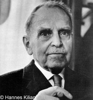 Porträt <b>Otto Hahn</b>, Copyright Hannes Kilian, Foto 1964 ... - otto_hahn_1964_prot